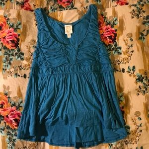 Rouched hi low peplum from Anthropologie